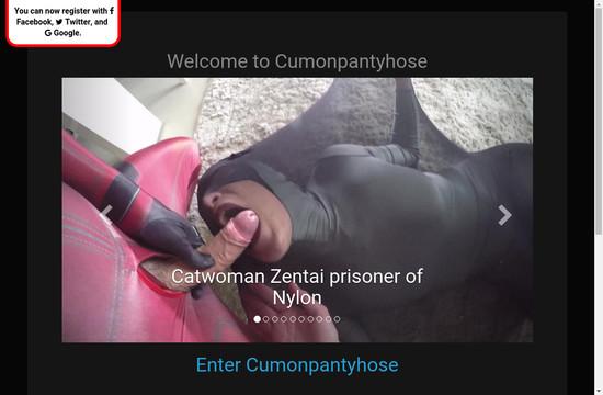 Cum On Pantyhose