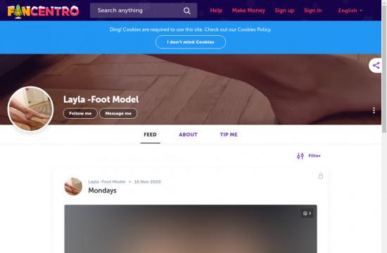 layla foot model