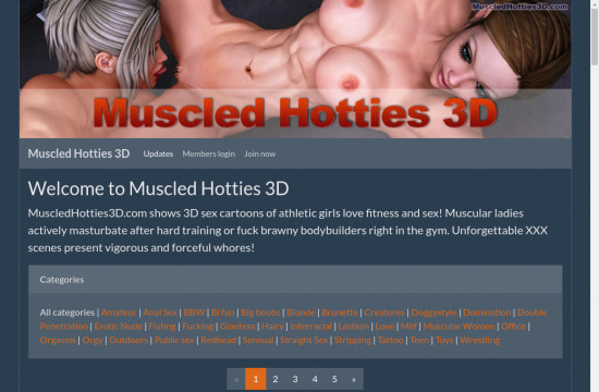 muscled hotties 3 d